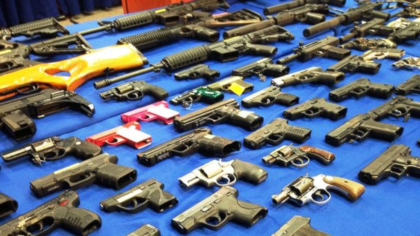 BIG GUN BUST FINDS WEAPONS FROM STATES WITH LOOSER GUN LAWS