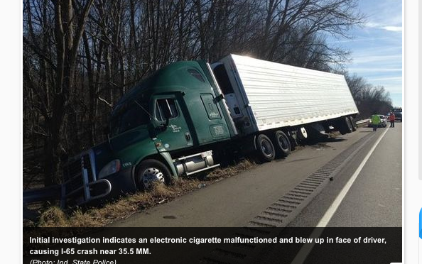 Police: E-cigarette malfunction causes personal injury crash