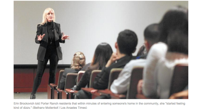 Erin Brockovich appeals to Porter Ranch residents as law firms push gas leak suits