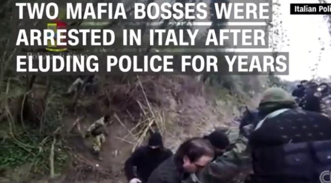 Italian police arrest 2 fugitive Mafia bosses in underground bunker