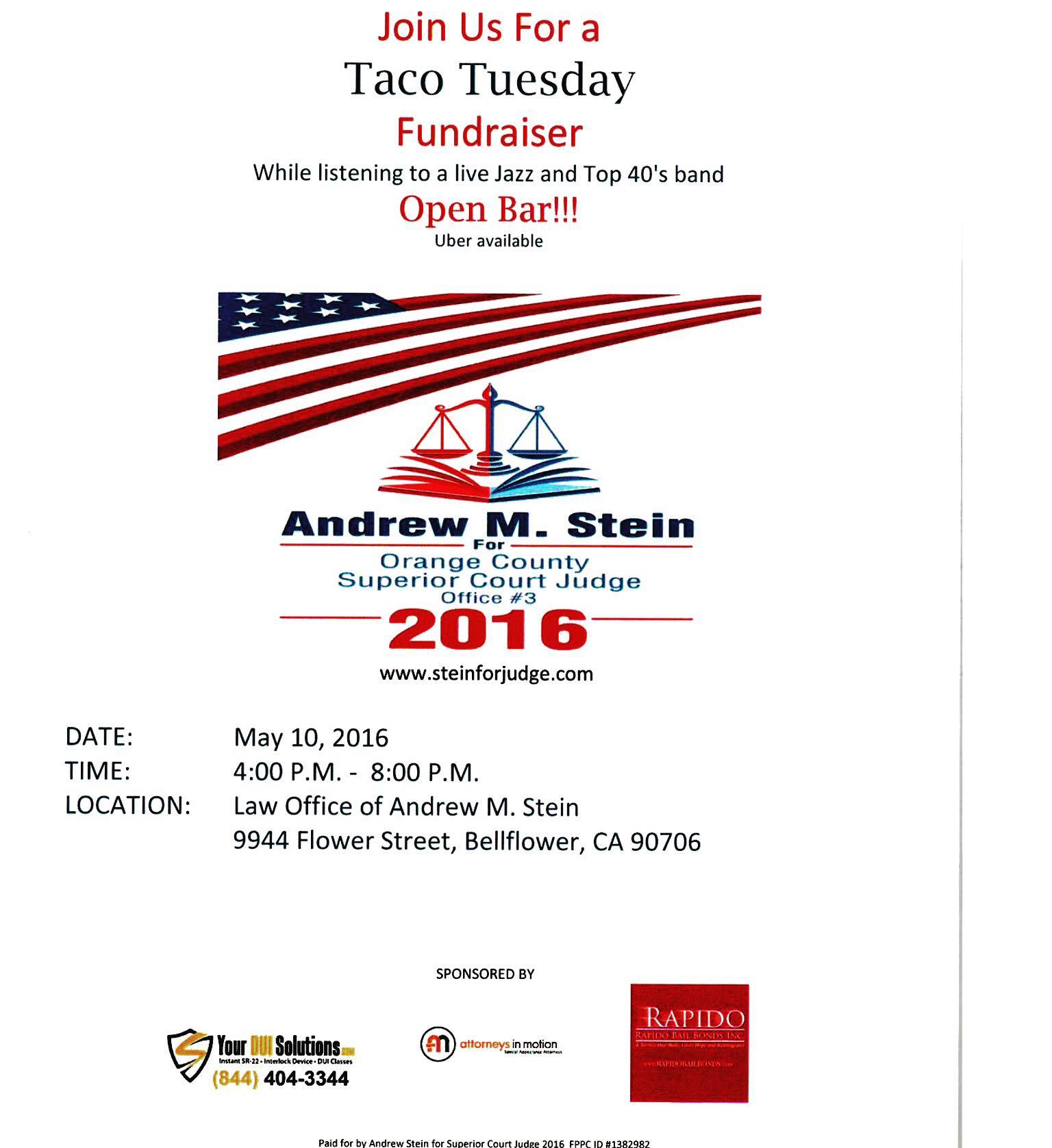 Andrew M. Stein For Orange County Superior Court 2016