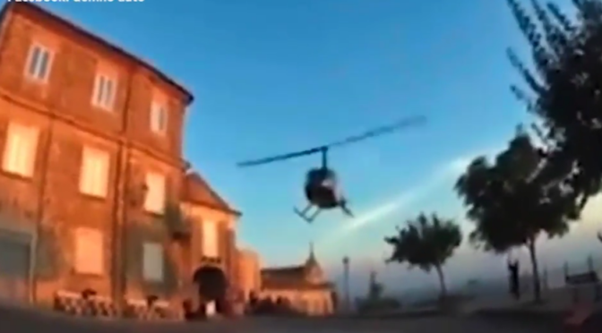 Italy investigates after grandson of mafia boss closed traffic and landed a helicopter in wedding day spectacle