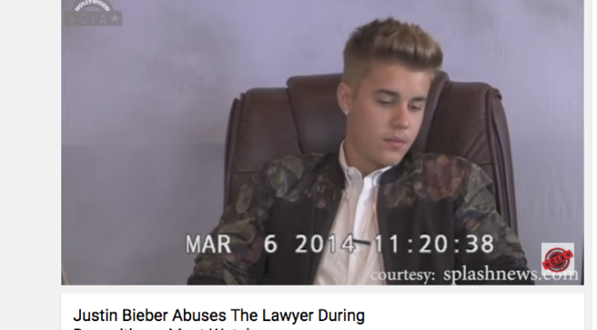 Justin Bieber Abuses The Lawyer During Deposition — Must Watch