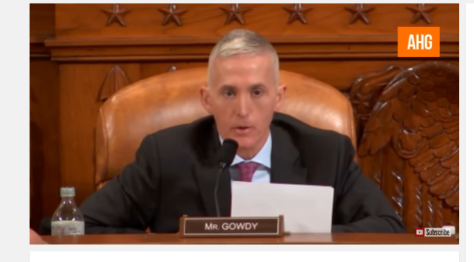 Trey Gowdy Finds Out FBI Director James Comey Won't Obey The Law & He's Pissed
